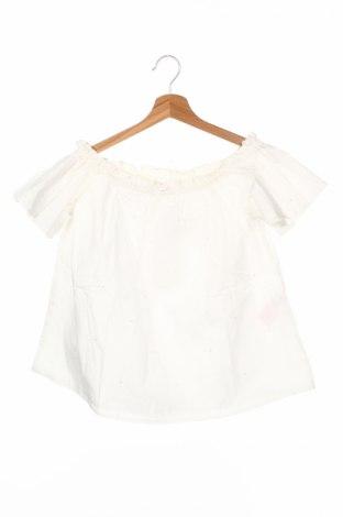 Детска блуза Name It, Размер 10-11y/ 146-152 см, Цвят Бял, Памук, Цена 8,40лв.