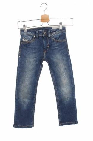 Blugi de copii Diesel, Mărime 3-4y/ 104-110 cm, Culoare Albastru, 98% bumbac, 2% elastan, Preț 65,84 Lei