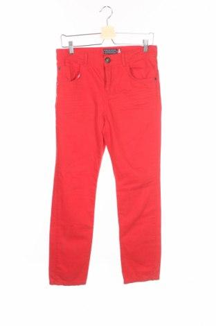 Детски дънки, Размер 12-13y/ 158-164 см, Цвят Червен, Памук, Цена 7,11лв.