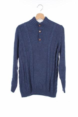 Detský sveter  Cyrillus, Veľkosť 15-18y/ 170-176 cm, Farba Modrá, 60% bavlna, 35% polyamide, 5% vlna, Cena  24,74€