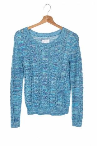 Детски пуловер Justice, Размер 15-18y/ 170-176 см, Цвят Син, 82% памук, 8% полиамид, 6% метални нишки, 4% други тъкани, Цена 6,50лв.
