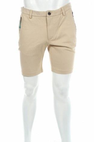 Pantaloni scurți de bărbați Devred 1902, Mărime L, Culoare Bej, 67% viscoză, 29% poliester, 4% elastan, Preț 36,32 Lei