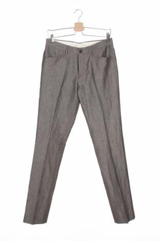 Мъжки панталон Carnet De Vol, Размер S, Цвят Сив, 44% полиестер, 32% лен, 24% вискоза, Цена 17,48лв.