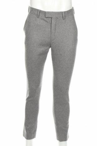 Ανδρικό παντελόνι H&M, Μέγεθος M, Χρώμα Γκρί, 52% μαλλί, 48% πολυεστέρας, Τιμή 29,69€