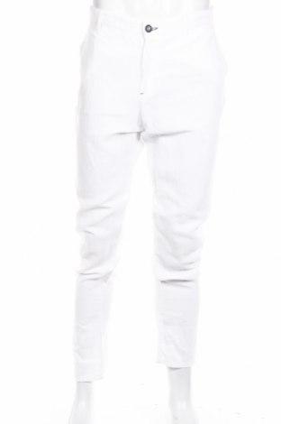 Męskie spodnie Liu Jo, Rozmiar XL, Kolor Biały, 55% len, 45% bawełna, Cena 126,48zł