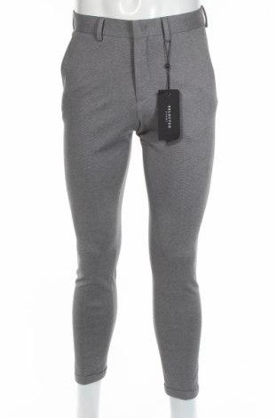 Мъжки панталон Selected Homme, Размер S, Цвят Сив, 75% полиестер, 21% вискоза, 4% еластан, Цена 19,80лв.