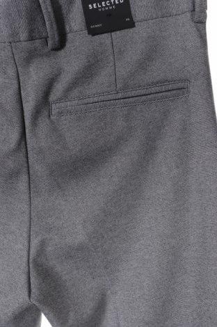 Мъжки панталон Selected Homme, Размер XS, Цвят Сив, 75% полиестер, 21% вискоза, 4% еластан, Цена 19,80лв.
