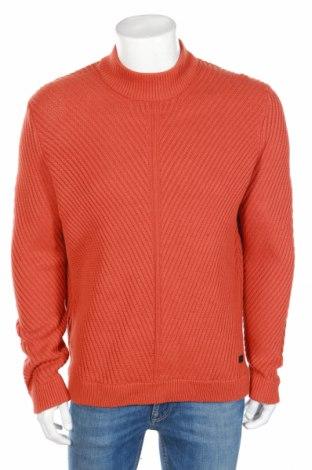 Ανδρικό πουλόβερ Only & Sons, Μέγεθος L, Χρώμα Πορτοκαλί, Βαμβάκι, Τιμή 30,41€