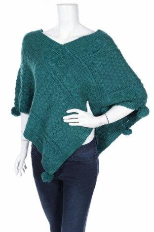 Πόντσο Naf Naf, Μέγεθος S, Χρώμα Πράσινο, 96%ακρυλικό, 4% μαλλί, Τιμή 45,88€