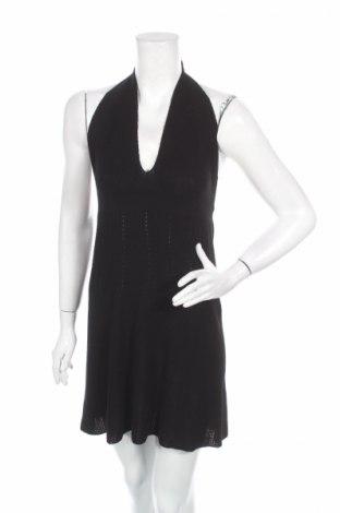 Рокля Zara Knitwear, Размер L, Цвят Черен, 73% вискоза, 27% полиестер, Цена 16,12лв.