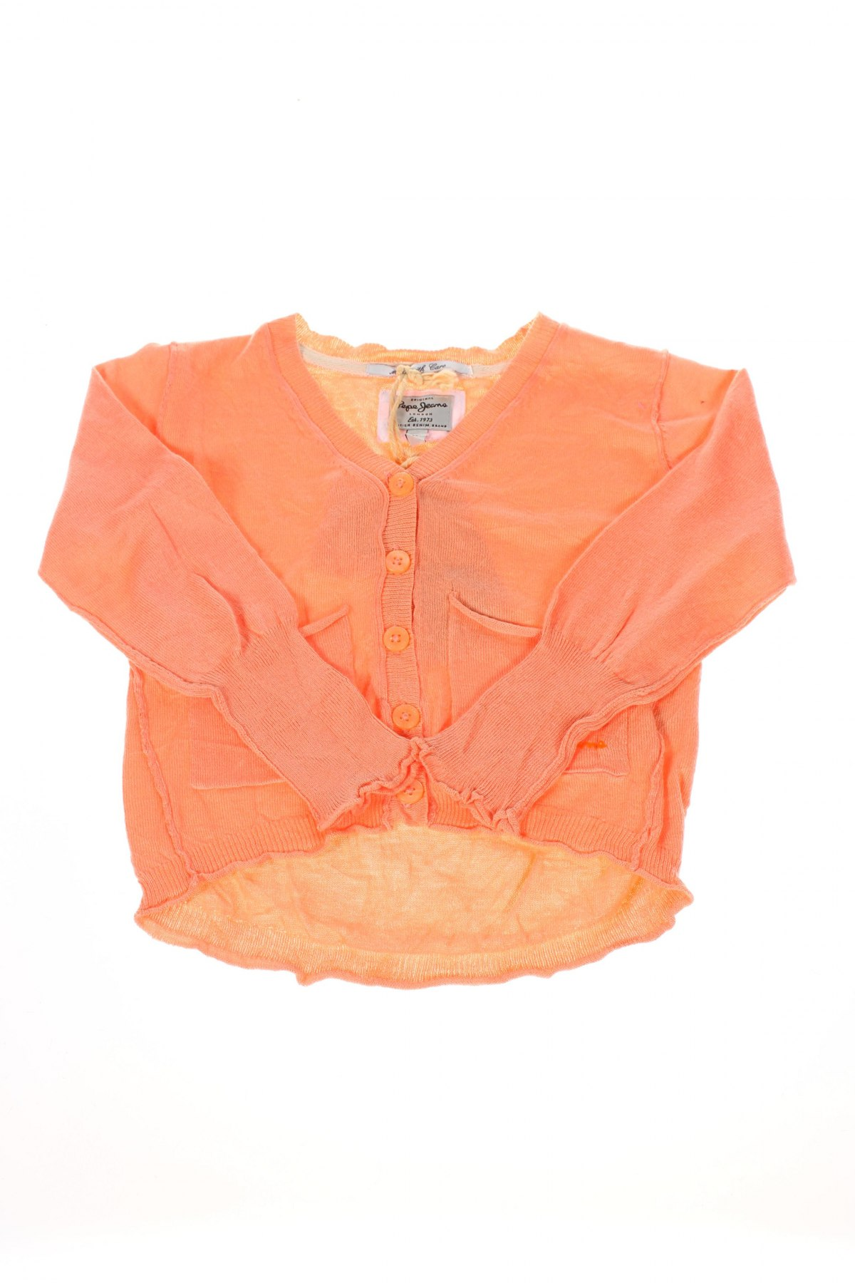 Gyerek kardigán Pepe Jeans, Méret 2-3y / 98-104 cm, Szín Narancssárga , 64% pamut, 36% viszkóz, Ár 16702 Ft