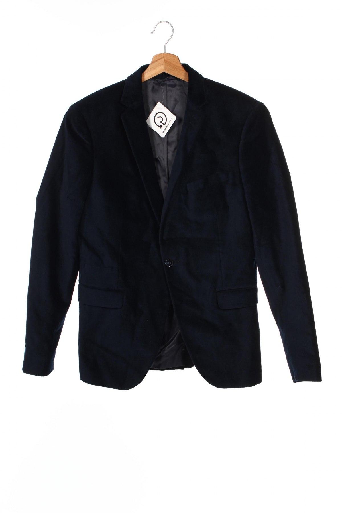 Мъжко сако Devred 1902, Размер S, Цвят Син, 100% памук, Цена 26,85лв.