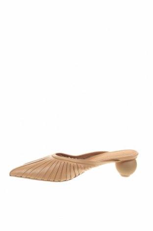 Γυναικείες παντόφλες Reserved, Μέγεθος 41, Χρώμα  Μπέζ, Γνήσιο δέρμα, Τιμή 22,94€