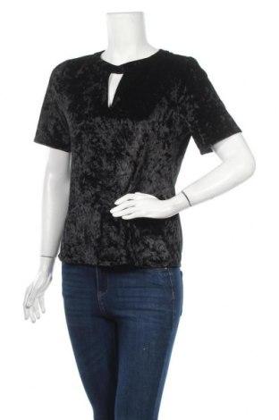Дамска блуза F&F, Размер M, Цвят Черен, 96% полиестер, 4% еластан, Цена 13,44лв.