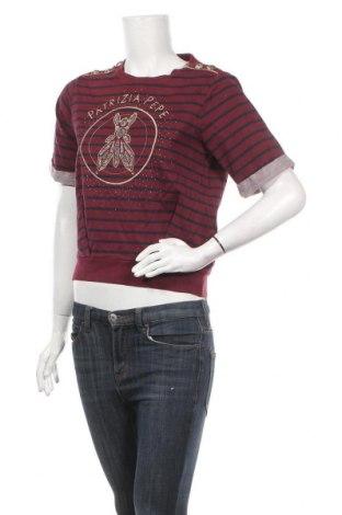 Γυναικεία μπλούζα Patrizia Pepe, Μέγεθος XS, Χρώμα Κόκκινο, Βαμβάκι, Τιμή 51,31€