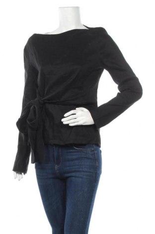 Γυναικεία μπλούζα Zara, Μέγεθος XL, Χρώμα Μαύρο, 77% λινό, 20% πολυαμίδη, 3% ελαστάνη, Τιμή 14,60€
