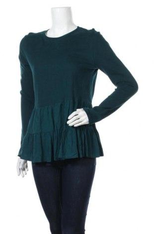 Γυναικεία μπλούζα Zara, Μέγεθος M, Χρώμα Πράσινο, Βισκόζη, βαμβάκι, Τιμή 16,08€