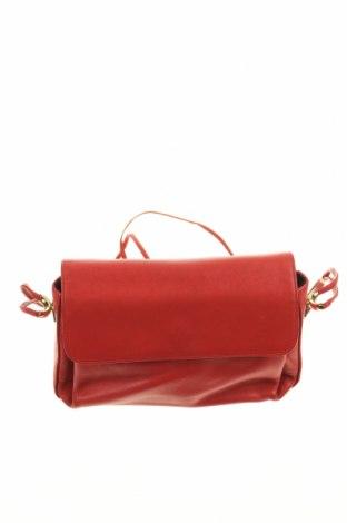 Γυναικεία τσάντα, Χρώμα Κόκκινο, Γνήσιο δέρμα, Τιμή 31,18€