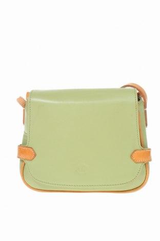 Дамска чанта, Цвят Зелен, Естествена кожа, Цена 30,95лв.
