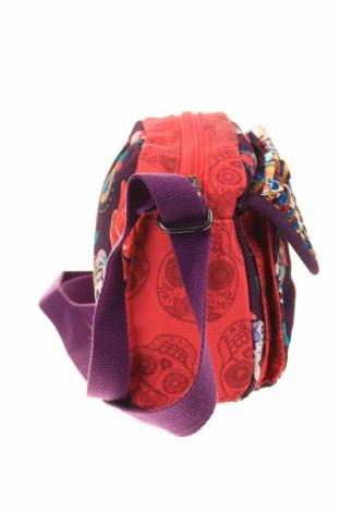 Дамска чанта Desigual, Цвят Многоцветен, Текстил, Цена 55,60лв.