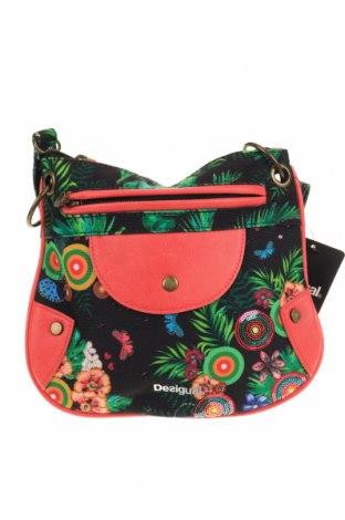 Дамска чанта Desigual, Цвят Многоцветен, Текстил, еко кожа, Цена 104,25лв.
