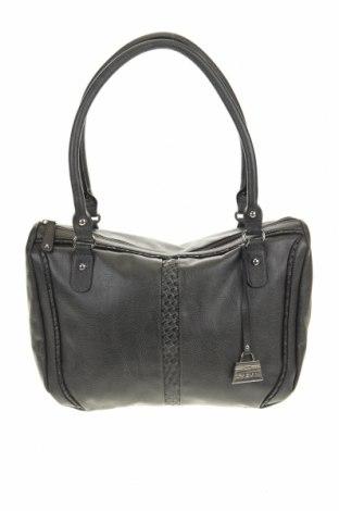 Дамска чанта Fabiani, Цвят Сив, Еко кожа, Цена 27,93лв.
