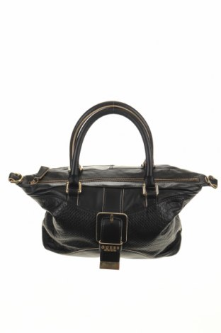 Γυναικεία τσάντα Guess, Χρώμα Μαύρο, Γνήσιο δέρμα, Τιμή 40,27€