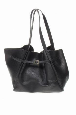 Γυναικεία τσάντα Mango, Χρώμα Μαύρο, Δερματίνη, Τιμή 22,27€