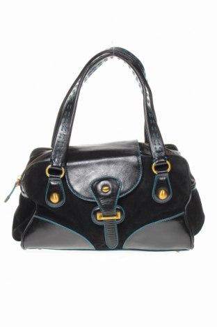 Дамска чанта Maxx New York, Цвят Черен, Естествена кожа, естествен велур, Цена 54,00лв.