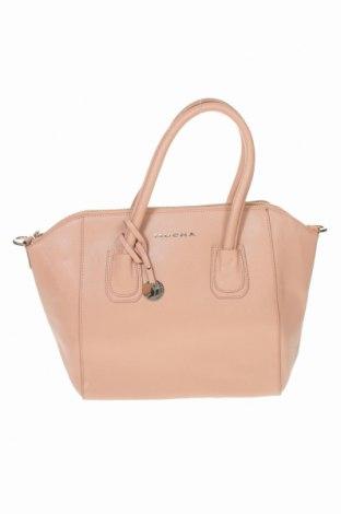 Дамска чанта Mocha, Цвят Розов, Естествена кожа, Цена 77,18лв.