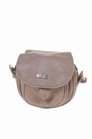 Дамска чанта Msk, Цвят Кафяв, Еко кожа, Цена 9,82лв.