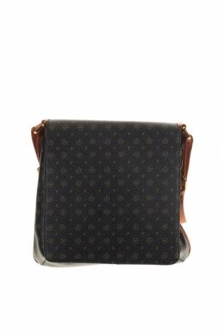 Дамска чанта Pollini, Цвят Черен, Естествена кожа, Цена 92,30лв.