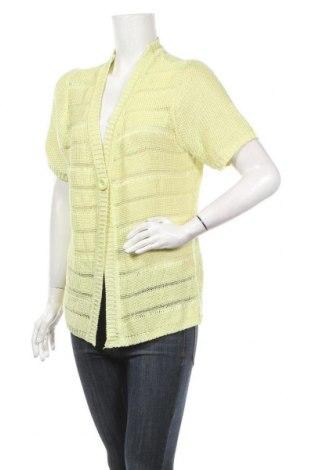 Дамска жилетка Gina Laura, Размер M, Цвят Зелен, 95% полиакрил, 3% памук, 2% полиамид, Цена 7,37лв.