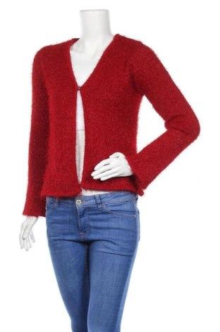 Γυναικεία ζακέτα KappAhl, Μέγεθος L, Χρώμα Κόκκινο, 93% πολυεστέρας, 7% μεταλλικά νήματα, Τιμή 18,19€