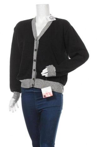 Дамска жилетка Liz Claiborne, Размер L, Цвят Черен, 82% памук, 11% полиамид, 5% акрил, 2% еластан, Цена 32,13лв.