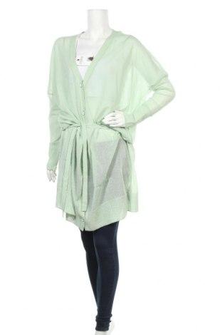 Дамска жилетка Sandrine, Размер M, Цвят Зелен, 75% памук, 25% полиамид, Цена 13,04лв.