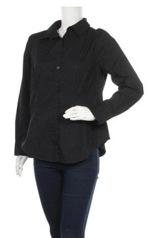 Дамска риза Biaggini, Размер M, Цвят Черен, 71% памук, 25% полиестер, 4% еластан, Цена 7,56лв.