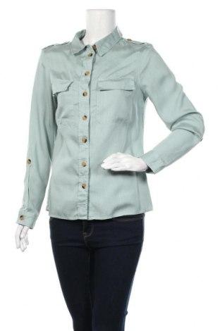 Дамска риза F&F, Размер M, Цвят Зелен, Лиосел, Цена 14,28лв.
