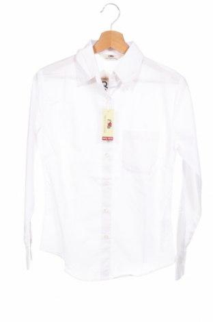 Дамска риза Fruit Of The Loom, Размер XS, Цвят Бял, 55% памук, 45% полиестер, Цена 19,85лв.