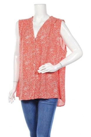 Дамска риза H&M, Размер XXL, Цвят Червен, Полиестер, Цена 27,30лв.