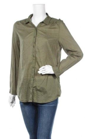 Дамска риза H&M Divided, Размер M, Цвят Зелен, Памук, Цена 12,72лв.