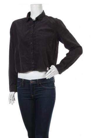 Дамска риза Pull&Bear, Размер M, Цвят Черен, Памук, Цена 14,96лв.