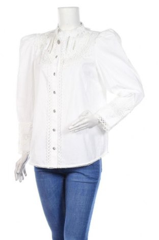 Дамска риза River Island, Размер L, Цвят Бял, Памук, Цена 21,86лв.