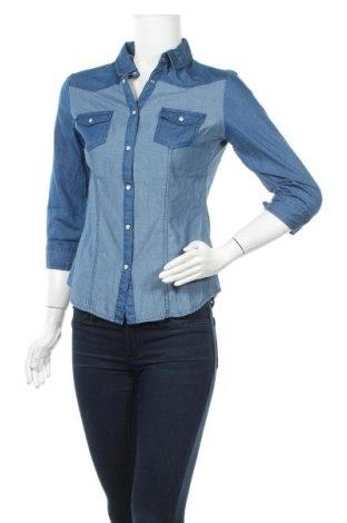 Дамска риза Tally Weijl, Размер S, Цвят Син, Памук, Цена 16,96лв.