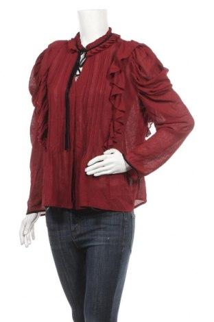 Дамска риза Zara, Размер L, Цвят Червен, Цена 36,75лв.