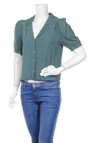 Дамска риза Zara, Размер M, Цвят Многоцветен, Вискоза, Цена 47,00лв.