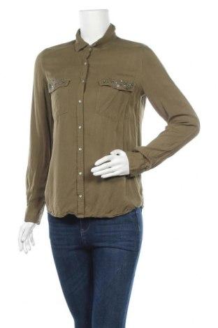 Γυναικείο πουκάμισο Zebra, Μέγεθος M, Χρώμα Πράσινο, Βισκόζη, Τιμή 11,11€