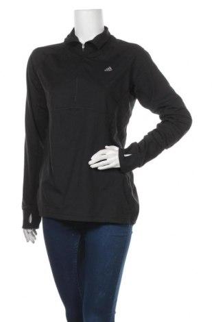 Γυναικεία αθλητική μπλούζα Adidas, Μέγεθος L, Χρώμα Μαύρο, 88% πολυεστέρας, 12% ελαστάνη, Τιμή 18,19€