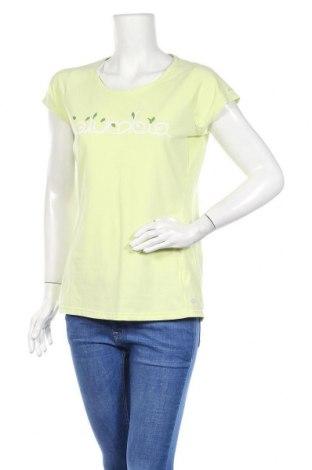 Γυναικείο t-shirt Columbia, Μέγεθος M, Χρώμα Πράσινο, 53% βαμβάκι, 40% πολυεστέρας, 7% ελαστάνη, Τιμή 12,53€