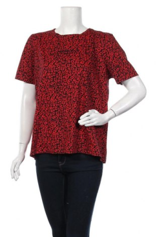 Дамска тениска Zara, Размер XL, Цвят Червен, Памук, Цена 39,00лв.